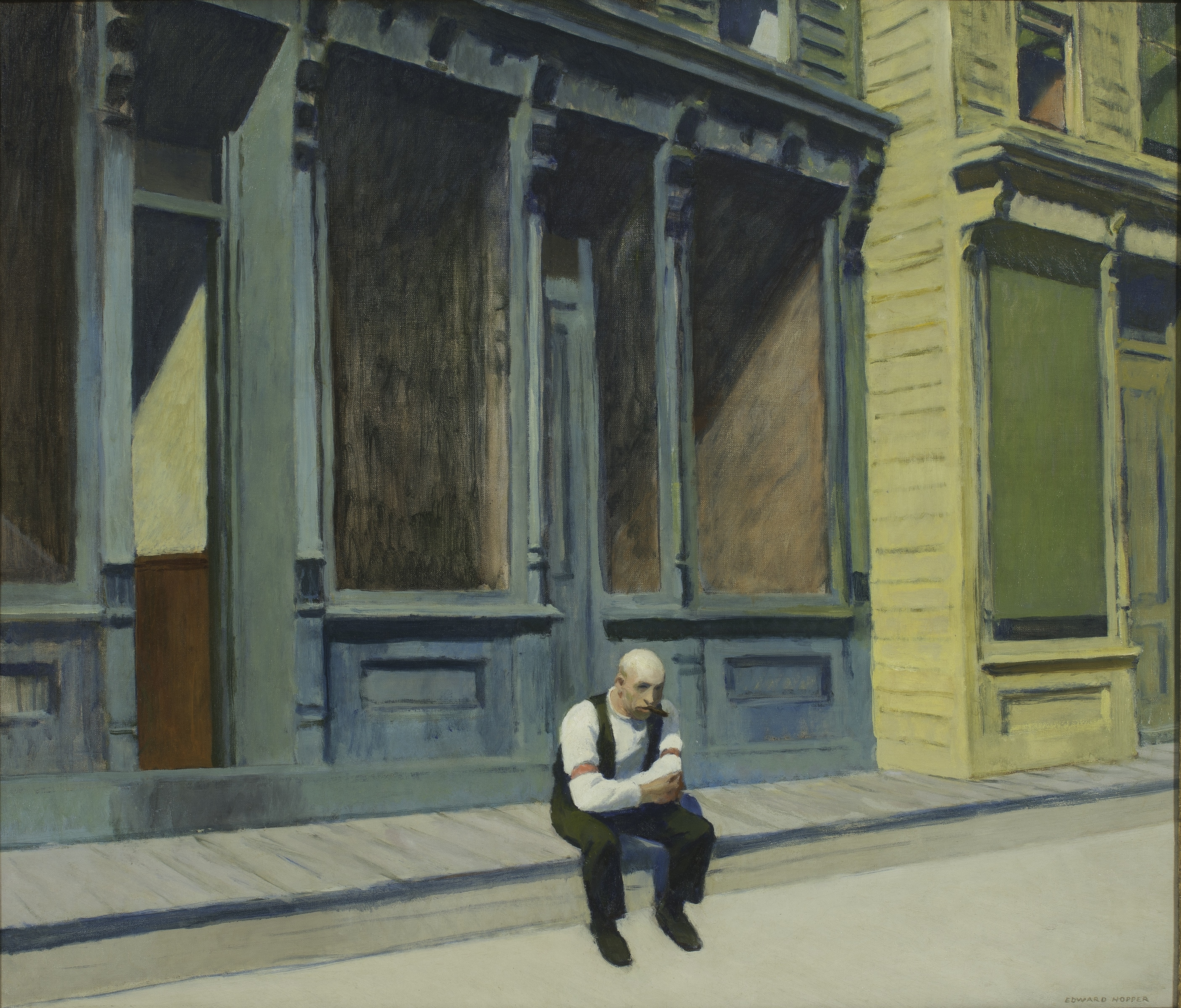 Edward Hopper: Sonntag, 1926, Phillips Collection, Washington D.C. | © www.museum-barberini.com