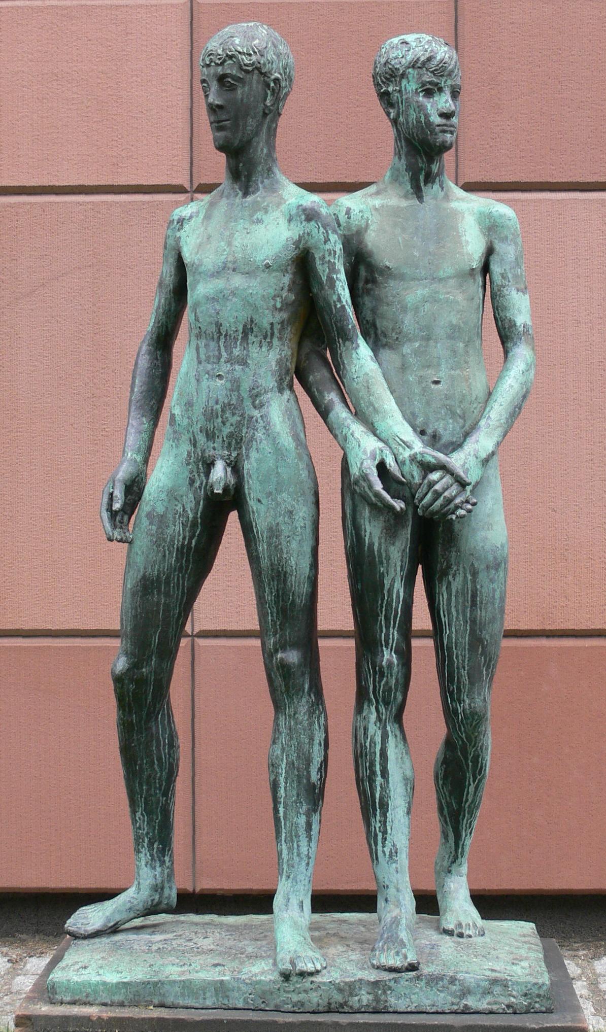 Gerhard Marcks: Zwei Freunde, Bronze