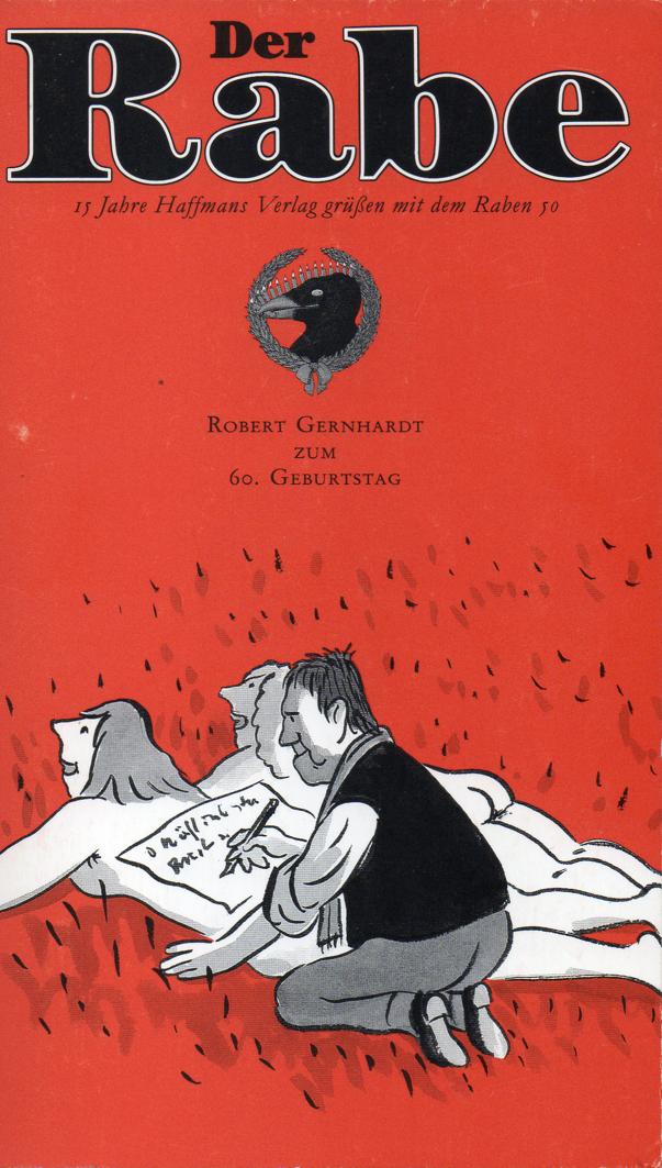Titel des 50. Heftes des Literaturmagazins »Der Rabe«.