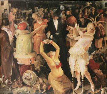 Gert H. Wollheim, Abschied von Düsseldorf, 1924; Öl auf Leinwand, 160 x 165 cm; Stiftung Museum Kunstpalast, Düsseldorf   © Jutta Osterhof/Nachlass des Künstlers