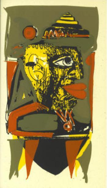 Wolfgang Henne: Kopf. Farbsiebdruck