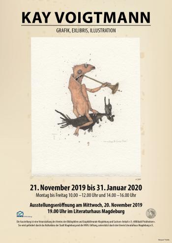 Plakat zur Kay-Voigtmann-Ausstellung in Magdeburg