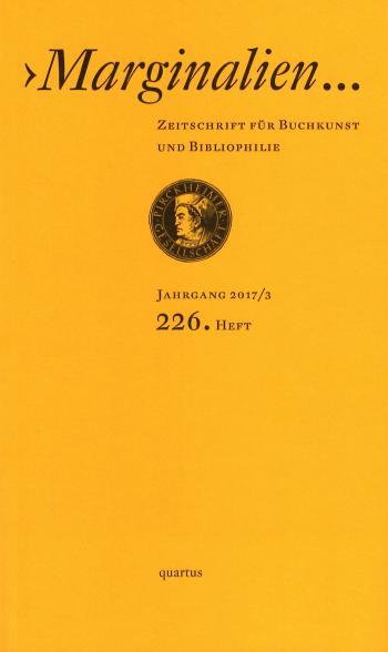 cover 226. Heft der Marginalien
