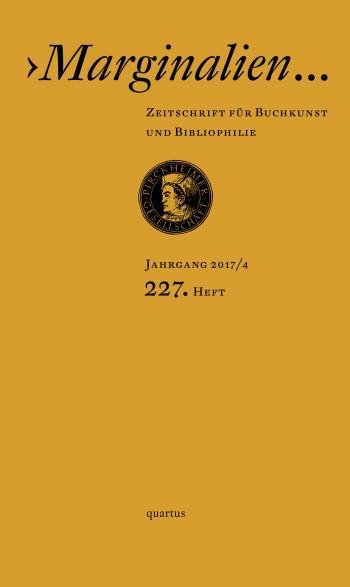 Cover Heft 227 der Marginalien