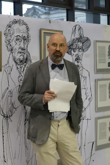 Rainer Ehrt freute sich über die gelungene Eröffnung der Ausstellung.
