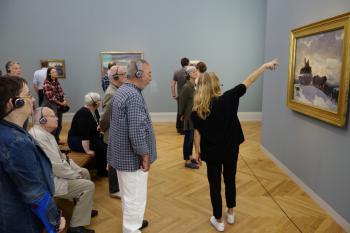 """Am Sonntag entschieden sich die meisten Pirckheimer für einen Besuch der Ausstellung """"Von Hopper bis Rothko. Amerikas Weg in die Moderne"""" im Museum Barberini."""