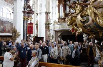 In Neuzelle besuchten die Pirckheimer auch die Barockkirche. | © R. Wege