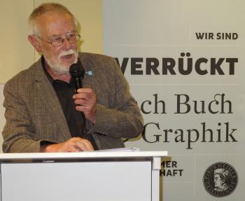 Hans-Jürgen Rehfeld beleuchtete in seiner Festrede die reiche Literaturgeschichte von Frankfurt/Oder. | © R. Wege