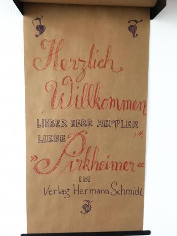 Herzliche Begrüßung im Verlag Hermann Schmid Mainz | © R. Wege