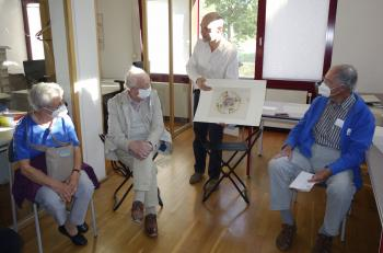 Einen Blick in die Porträtgrafiksammlung des Gleimhauses ermöglichte deren Leiter Dr. Reimar Lacher.