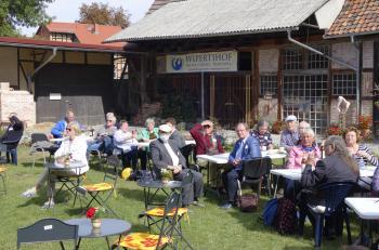 Der Wipertihof, direkt neben der Lyonel-Feininger-Galerie gelegen, erwies sich als perfekter zentraler Anlauf- und Ruhepunkt für den Sonnabendnachmittag.
