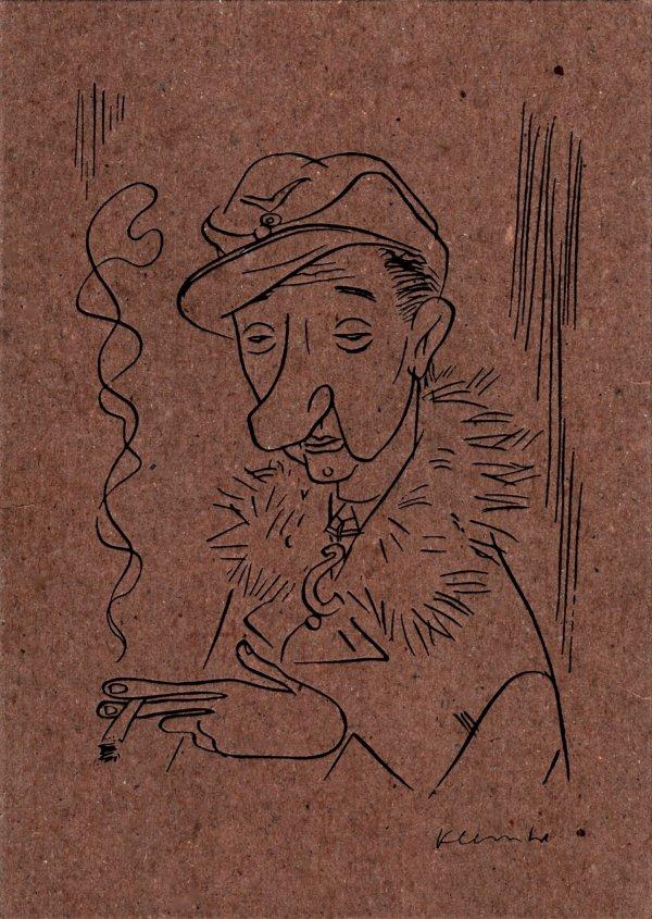 Eine Zeichnung von Werner Klemke ziert die Verpackung des Erasmus-Films.